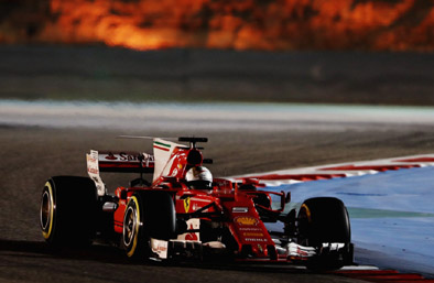 Vettel again beat the Silver Slings from behind